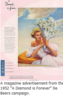 "Early Example of ""A Diamond is Forever"" Advertising"