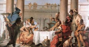 Cleopatra's Pearl Banquet, Giambattista Tiepolo