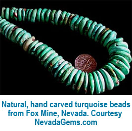 Hand carved turquoise beads
