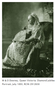 Queen Victoria Wearing Small Diamond Crown