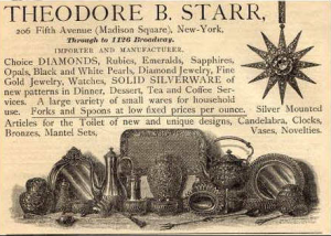 Theordore Starr calling card