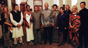 Nelson Mandela and Charles Taylor